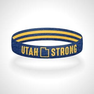 Reversible Utah Strong Bracelet Wristband
